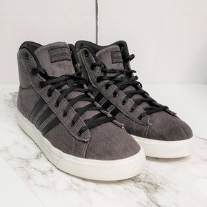 Adidas Cloudfoam Super Daily Mid Top Canvas Shoes